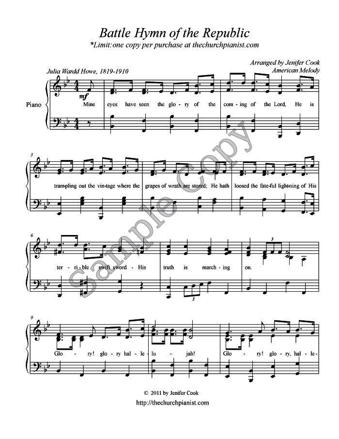 Himno de Batalla de la República (by Linda Pratt -- SATB)